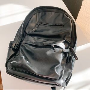 New faux leather backpack